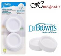 Dr Brown's Storage Wide-Neck Travel Caps-(2 Pack)seals DR Browns Natural Flow