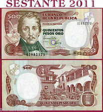 COLOMBIA  -  500  PESOS ORO  4.1. 1993   -  P  431A    -    QFDS / AUNC