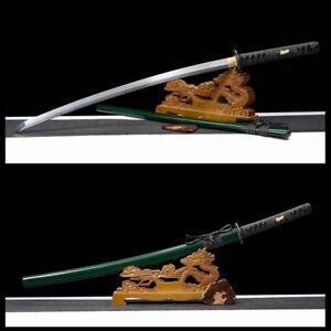 Real BATTLE READY Handmade spiral grain DAMASCUS STEEL Japanese Katana Sword