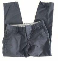 J crew Womens Size 00 Blue Navy Oxford Scout Pants City Fit Slim Cropped Leg