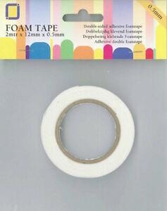 (EUR 0,60/m) Klebeband Foam Tape doppelseitig klebend 0,5 mm - 2 Rollen