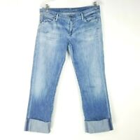 Citizens Of Humanity Womens Size 30 Jeans Dani Cropped Straight Zipper Fly