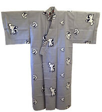 "Japanese Yukata Kimono Sash Belt Robe Men 61"" Cotton Kotobuki Fuku Made in Japan"