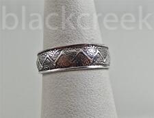 925 Sterling Silver ~Antiqued Zig-Zag Pattern ~ Adjustable ~ Toe Ring