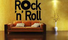 Rock & Roll Forever Music Metal Sound Mural  Wall Art Decor Vinyl Sticker z672