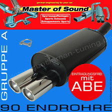 MASTER OF SOUND ENDSCHALLDÄMPFER VW CORRADO 1.8L 16V 1.8L G60 2.0L+16V 2.9L VR6