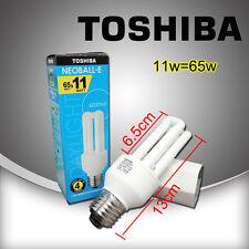 11w = 65watts Toshiba Daylight energy saving bulb lamp E27 base EFD11D/65-E3U