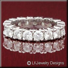 Full Eternity Four Prong Band Ring 7.00 Ct Moissanite Cushion Forever One Ghi