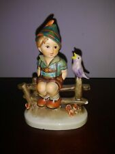 "Hummel Goebel West Germany Porcelain ""Boy with a bird on the fence"" figurine"