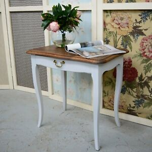 Antique French Louis Style Oak Side Table / Occasional Table / Lamp Table