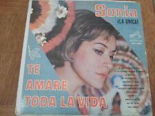 SONIA LA UNICA - TE AMARE TODA LA VIDA - LP
