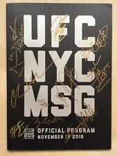 UFC 205 Program Signed x 11 Authentic Auto P4P MMA Signed Auto Pride Original