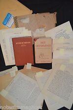 ORIGINAL CALVIN 200pg MANUSCRIPT & SIGNED BOOK ARCHIVE SKY DETERMINES & RIVER