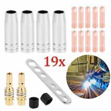 19 Pcs MB15AK MIG MAG soudage buse torche contact pointe diffuseur de gaz 0.8mm