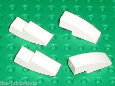 LEGO White Slope Brick Curved ref 50950  / Set 10186 8037 10191 731 7636 7666...
