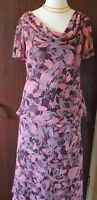 Jacques Vert fully lined plum/pink top and skirt size 12/14