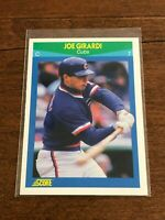 1990 Score Rising Star Baseball Rookie Card - Joe Girardi - Chicago Cubs