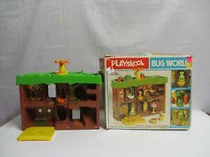 1978 Playskool Bug World Playset House and Box only