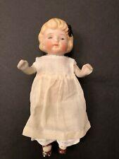 "Antique 7"" Bisque Girl Doll Japan"