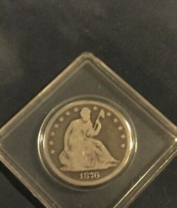 1876 Seated Liberty One Half 1/2 Silver Dollar 50 Cents
