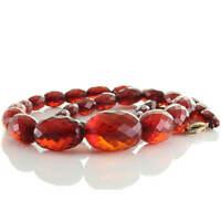 Red Cherry Vintage Oliven Kette Bakelit (Bernstein Imitat) im Facettenschliff