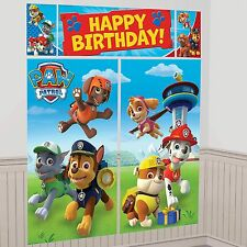 PAW PATROL BIRTHDAY PARTY SUPPLIES SCENE SETTER WALL POSTER DECORATIONS