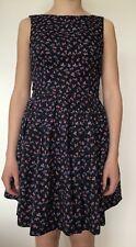JACK WILLS blue sleeveless lined cotton swing DRESS US 6 UK 10