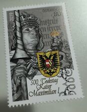 Österreich H01 Austria 2019 500th Anniversary Of The Death Of Emperor Maximilian I Mnh