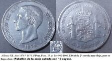 Alfonso XII. Año 1876* 1876. 5 Ptas. Plata. (Pabellón de la oreja rayado).
