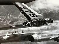 Vintage Military Jet Aerial USAF BW 8x10 USA Cockpit Photo F94 Starfire Airplane