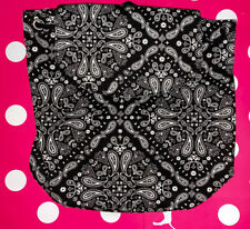 NEW Canvas Victorias Secret PINK MINI Backpack Black and White Paisley 2020 City