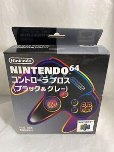 Nintendo Nintendo64 N64 Controller Black & Gray NUS-005 Japan Complete Box Rare