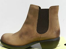 Fly London Make Chaussures Femme 40 Bottines Montantes Chelsea Boots Tan UK7 New