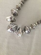 Necklace With Spheres & Disks Beads Nwt Dana Buchman Metal Braided Rope