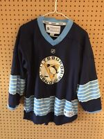 Pittsburgh Penguins Reebok Premier Alternate Hockey Jersey Youth L/XL Blue NHL