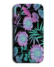 Nightime Colourful Flower Painting Phone Case Cover Bright Flamboyant Style G317