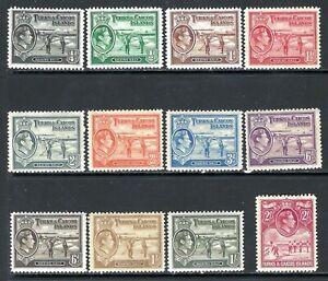 TURKS & CAICOS ISLANDS 1938-45 Salt Industry Mint Pictorials (May 182)