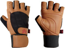 Valeo Ocelot Wrist Wrap Weight Lifting Gloves - Tan