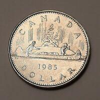 1985 Canada One Dollar Coin (100% Nickel) - Queen Elizabeth II