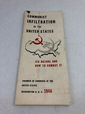 1946 Communist Infiltration In The United States Propaganda Brochure