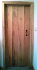 Solid Oak Doors- Farmhouse-Cottage- T&G Barn Door, European Oak, Ledges screwed