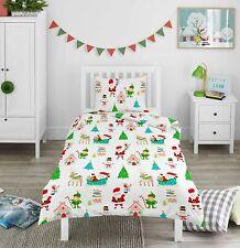 Christmas Bedding Duvet Cover Set Pillowcase Xmas Boys Girls Kids Bed Festive
