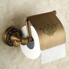 Antique Brass Bathroom Toilet Paper Holder Wall Mount Roll Tissue Paper Shelf