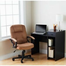 Student Desk Mainstays Black Home Office Furniture Dorm Bedroom Adjustable Shelf