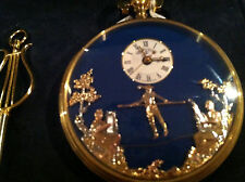 Reuge Music Very Rare Mechanical Moving Face Musical Pocket Watch