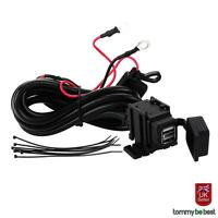 12v Waterproof  Motorbike Motorcycle 2-USB Charger Power Socket Adapter Outlet