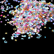 Lot 5000Pcs Mixed Glitter Heart Star Flower Sequins Stickers Decals Nail Art DIY