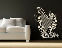 Harp - highest quality wall decal sticker
