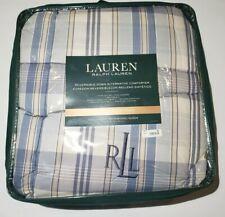 Ralph Lauren  FULL/QUEEN Reversible Comforter Bronze Comfort Sundeck Blue Plaid