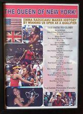 More details for emma raducanu 2021 us open champion - framed print